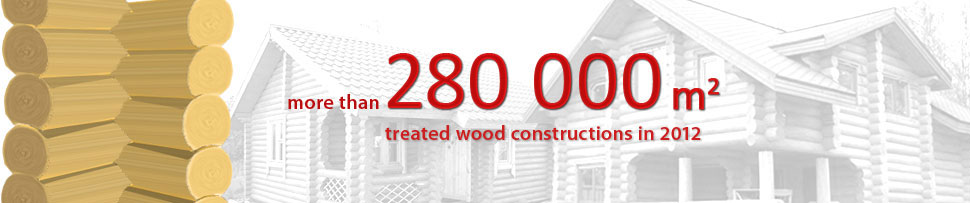 More than 280000 m2 treated wood constructions in 2012
